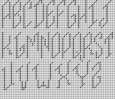slanted capitals adapted and recharted from vintage Italian book by Napa Needlepoint