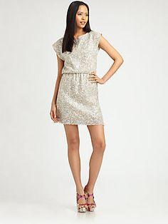 Alice + Olivia Glitter Dress #HolidayStyle