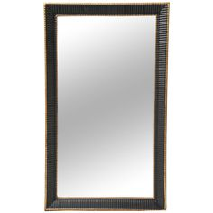 French Neoclassical Black Mirror | From a unique collection of antique and modern wall mirrors at https://www.1stdibs.com/furniture/mirrors/wall-mirrors/