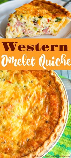 Recipes Omelettes Western Omelet Quiche use reg onions and mushrooms and spinach instead of ham. Breakfast Quiche, Breakfast Dishes, Breakfast Time, Yummy Breakfast Ideas, Easter Breakfast Recipes, Diet Breakfast, Breakfast Casserole, Quiche Chorizo, Ham Quiche