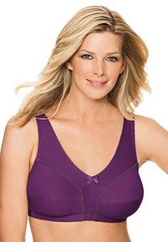 42C Comfort Choice Bra Purple New Cotton Free Shipping