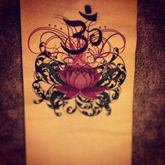 Lotus and Om-This would make a gorgeous tattoo!!