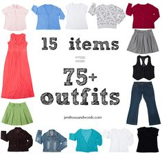 15 Items Styled into 75+ outfits