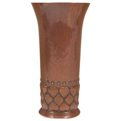 Keswick School of Industrial Arts vase, in hammered copper with repousse design, signed, x on Jun 2013 Copper Work, Arts And Crafts Furniture, Design Movements, Handmade Copper, Hammered Copper, Arts And Crafts Movement, Craftsman Style, American Art, Home Art