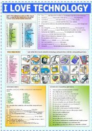 English worksheets: technology worksheets, page 1