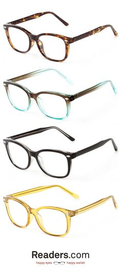 An amazing square shape with an optical quality frame. Too good to be true? No way. | The Jupiter | Readers.com glasses