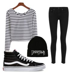 """Untitled #135"" by denisprodea-dp ❤ liked on Polyvore featuring rag & bone and Vans"