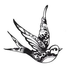 swallow tattoo arty. love to have this one small on the nape of the neck or on the shoulder blades.