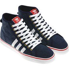 hot sale online 6f6b2 16850 adidas Nizza Hi Cl Colour dark indigo   light scarlet   white