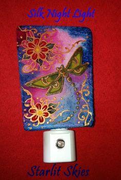 Dragonfly Silk Night Light by Cyn Mc on Artfire.com in our STARLITSKIES shop. $18.00