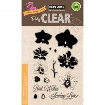 Hero Arts - Clear Stamp - Color Layering Large sheet of clear stamps. Use the Color Layering Large Orchid Frame Cuts dies to cut the imag Hero Arts, Thing 1, General Crafts, Penny Black, Amazon Art, My Stamp, Latex Free, Love, Craft Items