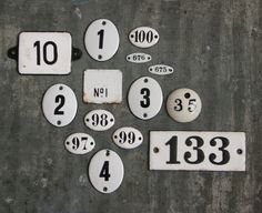 Enameled Number Plates