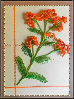 A Journey into Quilling & Paper Crafting: Quilled 3d Flowers - Orange Blossom Flower Frame