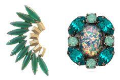 Great mismatched pair: (one of each) Elizabeth Cole earrings and Dannijo earrings