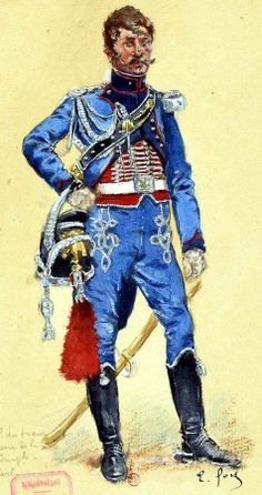 An officer of the Imperial Guard artillery trains 1810 Fig. E. Fort.