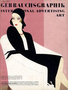 Cover of Gebrauchsgraphik, International Advertising Art, 1930. Unknown artist.