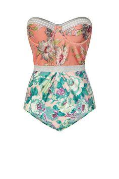 Zimmermann Celestial Floral-Print Underwired Swimsuit, $340; net-a-porter.com [seen on elle.com]