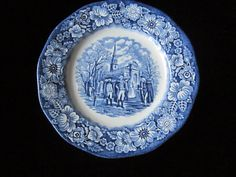 Vintage  liberty blue plate by Theevintagebarn on Etsy, $4.99