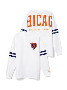 b4aebc148a4 Chicago Bears Bling Varsity Crew PINK. Need this Chicago Bears Shirts, Chicago  Bears Women
