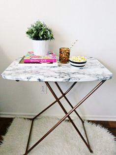 DIY marble table via @glitter