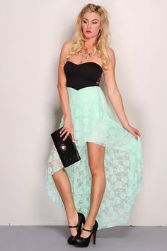 Strapless dress, High low and Dresses on Pinterest