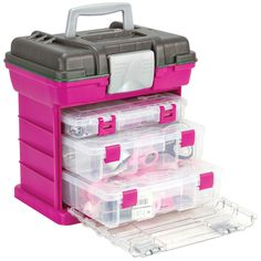 "Creative Options Grab'n Go 3-By Rack System 13X10""X14""-Magenta/Sparkle Gray (Magenta (Pink)/Sparkle Gray)"