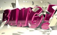 """C4D - """"Bang"""" Typography by bAdddie, via Flickr"""