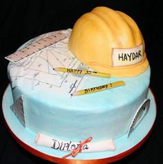 Civil Engineer Birthday Cake...♡ Cute idea! Might do something like this for you when you graduate!