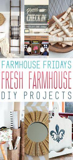 Farmhouse Friday /// Fresh Farmhouse DIY Projects - The Cottage Market
