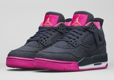 The Air Jordan 4 GS Denim edition is officially introduced. Look for this model at Jordan Brand retailers on January 16th for $140.