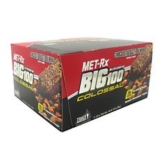 MET-RX USA BIG 100 COLOSSAL PROTEIN BARS - Chocolate Toasted Almond, $21.99