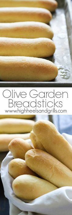 These Copycat Olive Garden Breadsticks are easy to make when you use a KitchenAid mixer. The bread sticks are light and fluffy, but crisp on the outside and have a slight hint of garlic to them. Awesome side for dinner! Olive Garden Breadsticks, Olive Garden Recipes, Little Lunch, Bread And Pastries, Pastries Recipes, Dishes Recipes, Side Recipes, Drink Recipes, Pasta Recipes