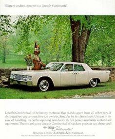 Publicités Anciennes / Vintage Ads 1965 Lincoln