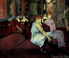 Henri de Toulouse-Lautrec - Au Salon de la rue des Moulins