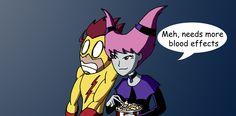 Kid Flash and Jinx