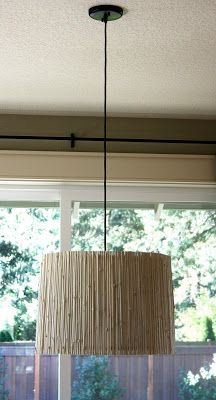 DIY Bamboo Light Fixture