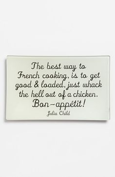 Julia knows what she's talking about! Ben's Garden 'The Best Way to French Cooking' Trinket Tray available at #Nordstrom
