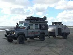 Land Rover Defender 110 Td4 Sw Se customized extreme sports wrong with trailer.
