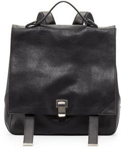 Proenza Schouler Black Ps Large Leather Backpack Black