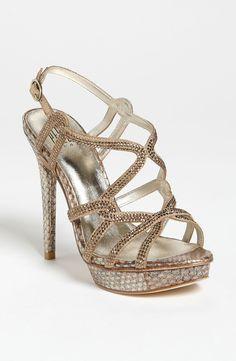 13d142b0c30 PELLE MODA Gold Flirt Sandal Stiletto Pumps