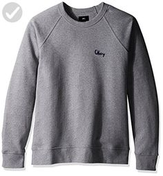 OBEY Men's Lofty Chain Stitch Crew Neck Fleece Sweatshirt, Athletic Heather Grey, Medium - Mens world (*Amazon Partner-Link)