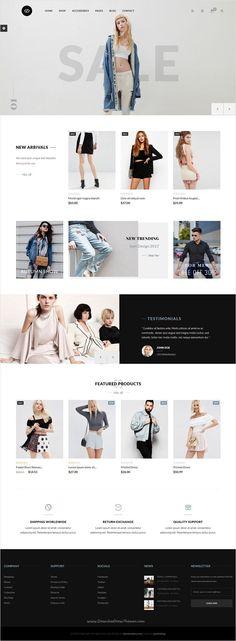 Buy JMS GooG - Responsive Prestashop Theme by jmstheme on ThemeForest. JMS GooG is the premium Prestashop theme for fashion shop, clothes, shoes and accessories store. Design Web, Web Design Tutorial, Website Design Layout, Website Design Inspiration, Web Layout, Layout Design, Layout Site, Graphic Design, Ecommerce Webdesign