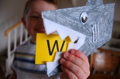 Mr. Shark Alphabet Chomper Game from I {Heart} Crafty Things