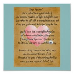Shop Retired Nurse Canvas Art Poem by Gail Gabel,RN Poster created by ProfessionalDesigns. Retirement Poems, Nurse Retirement Gifts, Nurse Gifts, Teacher Gifts, Gag Gifts, Funny Gifts, Nurse Poems, Nurse Quotes, Quotes Quotes