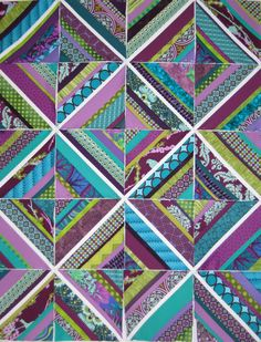 Merri String Quilt | Flickr - Photo Sharing!.  Love the colors