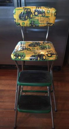 Vintage COSCO Folding Step Stool Chair Seat w/ Backrest John Deere & YES! My kitchen chair/stool! I think I\u0027d rather do each piece a ... islam-shia.org
