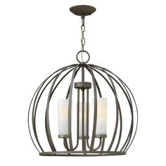 Features:  -Number of lights: 3.  -C-US dry rated.  -Finish: Anodized black.  -Renata collection.  -Material: Steel.  -Shade glass:  Etched Opal Linen.  Product Type: -Mini chandelier/Drum chandelier.
