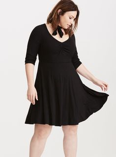 f176922ae28 Jersey Knit Sweetheart Skater Dress