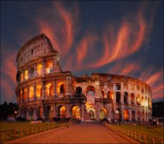 Gorgeous shot of  the Colosseum, Rome, Italy