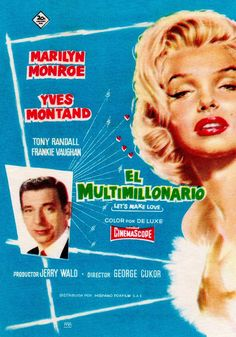 LET'S MAKE LOVE (1960) MARILYN MONROE YVES MONTAND. When billionaire Jean-Marc Clement learns that he is to be satirized in an off-Broadway revue, he passes himself off as an actor playing him in order to get closer to the beautiful star of the show, Amanda Dell. (imdb.com) 9x14cm original vintage rare Spanish herald. (small flyer) (please follow minkshmink on pinterest) #herald #marilynmonroe #marilynart #letsmakelove